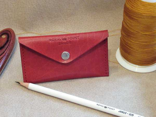 RoyalPoint Janus Business Card Case Red Leather
