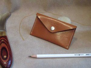 RoyalPoint Janus Business Card Case Brown Leather