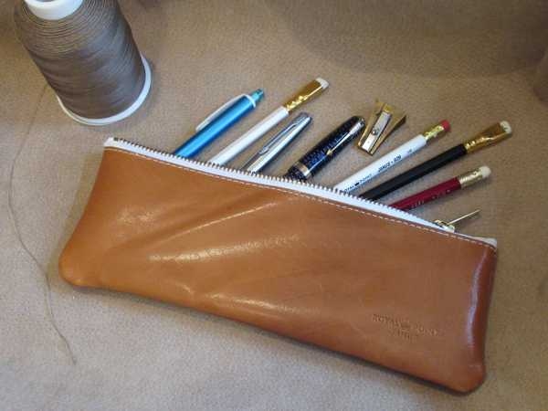 RoyalPoint Janus Long Pencil Case Brown Leather